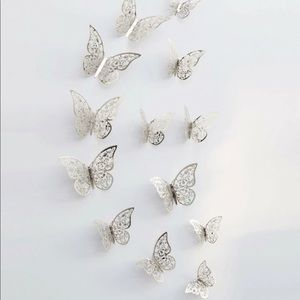 3D Butterfly Art Stickers 12 Count